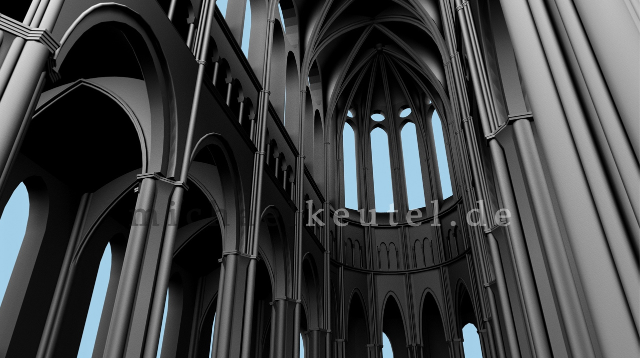 Gothic church architecture 3ds max michael keutel for Architecture 3ds max