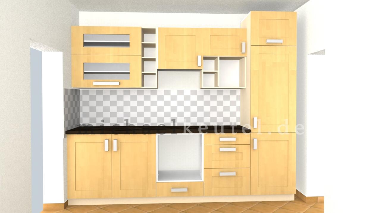 k chenzeile im eigenbau layout in 3d michael keutel portfolio. Black Bedroom Furniture Sets. Home Design Ideas