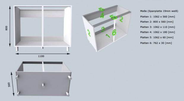 k chenzeile im eigenbau sp lenschrank michael keutel portfolio. Black Bedroom Furniture Sets. Home Design Ideas